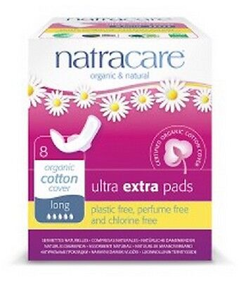 NATRACARE  Ultra Extra Pads Long 8s (Pack of 2)