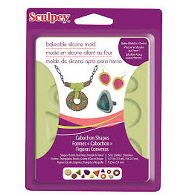 Sculpey Bakeable Silicone Mould Cabochon Shapes, Crafts, jewellery making