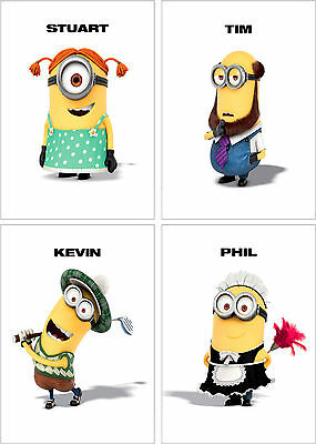 Despicable Me 2 Minions Characters Poster Set of 4 - A4 A3 A2 Sizes