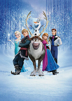 Frozen Movie Characters Giant Poster - A0 A1 A2 A3 A4 Sizes