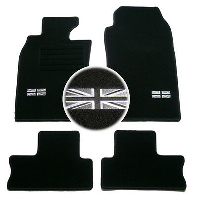 4 Tapis Sol Mini 2003-2006 R50 R53 Moquette Logo Flag Uk Specifique