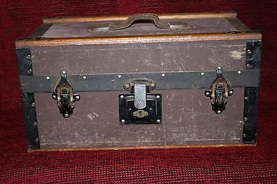 1920's Vintage Old Suitcase with The Independent Order of Foresters Label