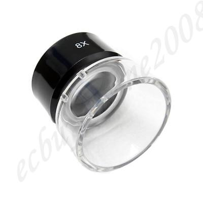 Professional Optical Glass Made 8X Loupe Magnifier Negative Slide Photo Viewing