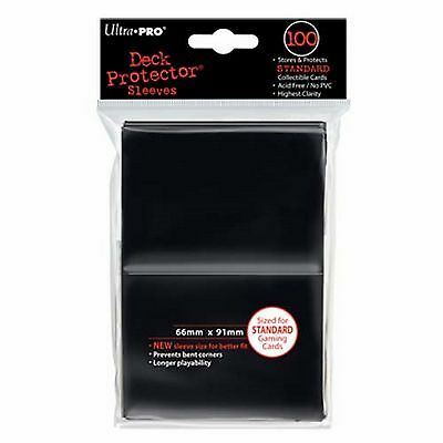 100 Bustine Protettive Ultra PRO Magic STANDARD BLACK Nero 66x91 Sleeves Buste