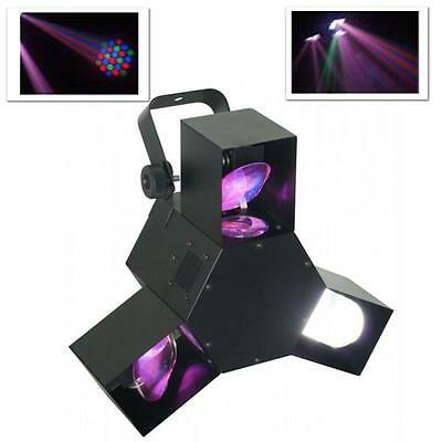 Beamz Dmx Led Triple Flex Light Karaoke Disco Party Lighting *free P&p Offer