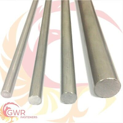 "303 Stainless Steel Round Bar Rod - 4mm 5mm 6mm 1/4"" 8mm 3/8"" 1/2"" 16mm"