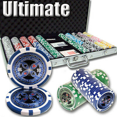 New 750 Ultimate 14g Clay Poker Chips Set with Aluminum Case - Pick Chips!