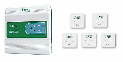 Package Deal: Azel 5 Zone Switching Relay with 5 units of  Digital Thermostats