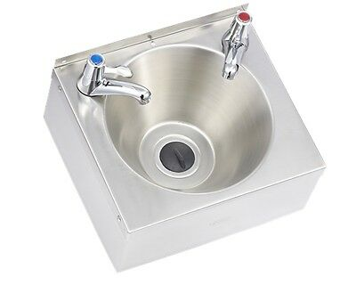 NEW Catering Stainless Steel HAND WASH SINK BASIN with LEVER TAPS & TRAP etc