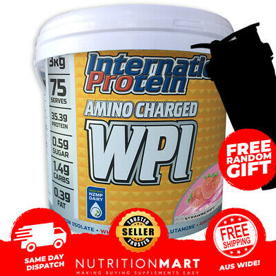 INTERNATIONAL PROTEIN AMINO CHARGED WPI - 3kg - 75 SERVES