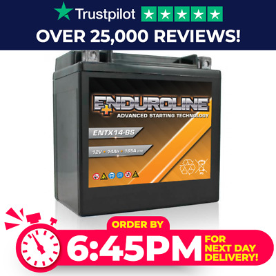 YTX14-BS High Power Enduroline Motorcycle Bike Battery - More Power than Lithium