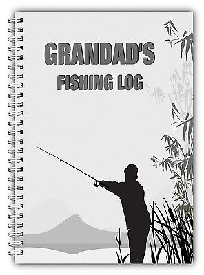 A5 Personalised Fishing Log/journal/record Book/ Personalised Fishing Gift/03