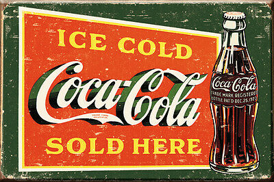 "Ice Cold Coca Cola Sold Here  2"" X  3""  Magnet, Free Shipping Refrig Magnet"