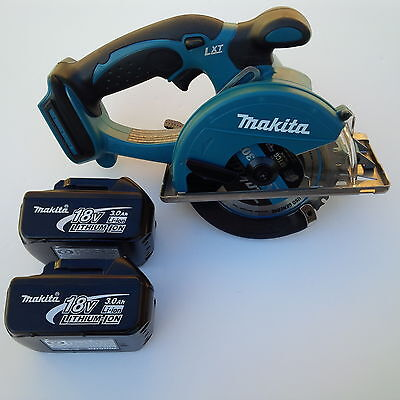 New Makita LXT 18V XSC01 Cordless Metal Saw, 2 BL1830 Batteries 3.0 AH 18 Volt