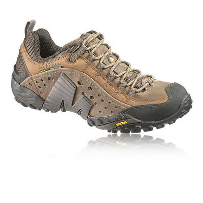 Merrell Mens Intercept Brown Grain Leather Trail Outdoors Walking Hiking Shoes