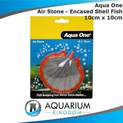 #14047 Aqua One PVC Encased Shell AirStone 10cm - Aquarium Fish Tank Air Stone