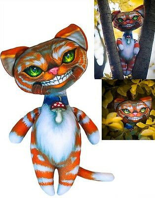Cheshire Cat. w/stuffing Ready To Sew Doll DYI Cut and Sew, Jasmine griffth