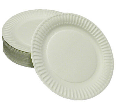 """6"""" White Paper Plates (1000) Takeaway Packaging, Disposable Packaging"""