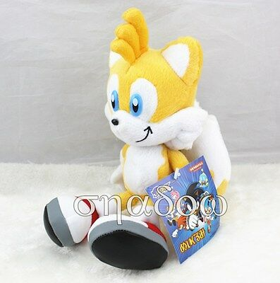 """Sonic The Hedgehog Miles """"Tails"""" Prower 8"""" YELLOW SEGA Plush Doll Christmas Toy"""