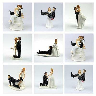 Bride And Groom Figure Wedding Cake Toppers Hand Painted Cake Decorations