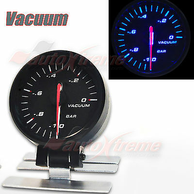 "STEPPER MOTOR AUTO Gauge Slim Meter 60mm/2.4"" BLUE Light RED Needle VACUUM RATIO"