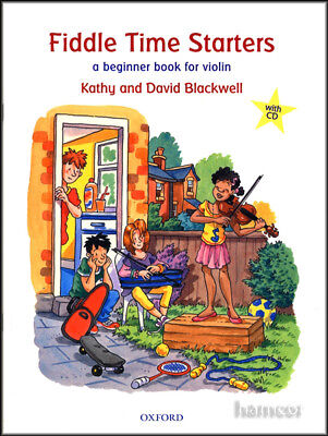 Fiddle Time Starters New Edition Book/CD Set Learn How to Play Violin