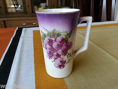 Antique  DRESDEN CHINA POTTERS COOPERATIVE OHIO GRAPE COFFEE MUG CUP TEA  1900