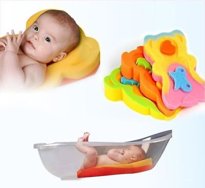 Bathtub Safety Sponge Mat Bath Support For Infant & Baby Over 6kg & 65cm Tall