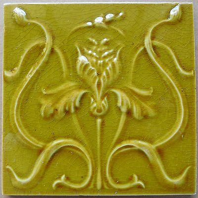 ORIGINAL ANTIQUE ART NOUVEAU TILE - GILLIOT HEMIXEM