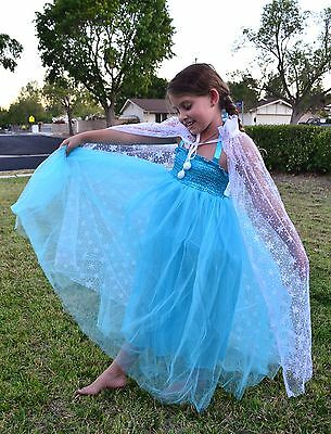 Elsa Costume Tutu Dress and Cape DRESS UP NWT