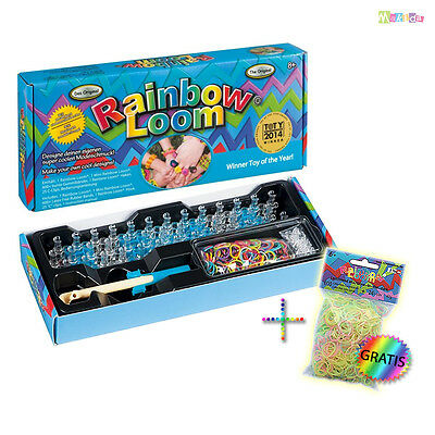 RAINBOW LOOM ORIGINAL Starterset + Glow-In-The-Dark Silikonbänder Deutsch