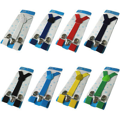 Kids Boys Girls Toddler Children Y-Shape Suspenders Elastic Adjustable Brace new