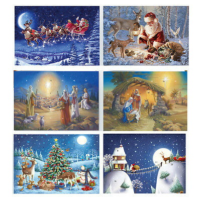 Advent Calendar Cards large with envelope 22 x 15.5 cm collection luxury cards