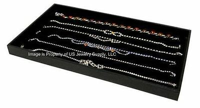 1 Black Tray 6 Slot Black Necklace Pendant Chain Display