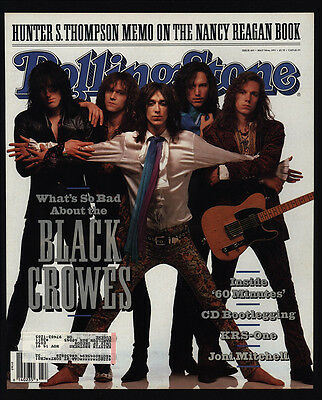 1991 Vintage ROLLING STONE Magazine *COVER ONLY* -  BLACK CROWES