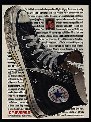 1991 MIGHTY BOSSTONES - DICKIE BARRETT -  CHUCK TAYLOR CONVERSE Shoes VINTAGE AD