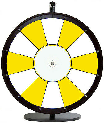 "24"" Yellow and White Promotional Dry Erase Trade Show Prize Wheel"