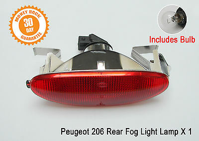 Rear Fog Light Peugeot 206 Lamp Back Centre Hatchback With bulb New 6351K5