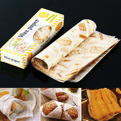 Sandwich Cookie Cake Waxed Paper Non-Stick Greaseproof Wrap Packaging 50 sheets