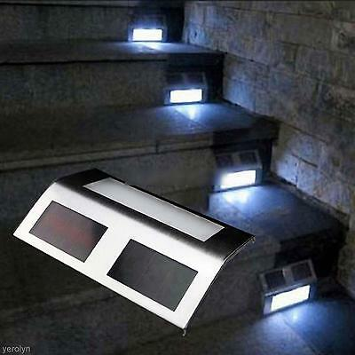 Light-operated Stair Outdoor Garden Lawn Yard Wall Solar LED Path Light Lamp