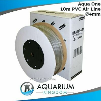 Aqua One 10 Metres Aquarium Soft Airline 4mm Tubing Hosing Air Line For Air Pump