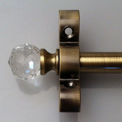 Antique Brass 1/2 Inch Stair Carpet Rod Crystal Finial (R07Cc)
