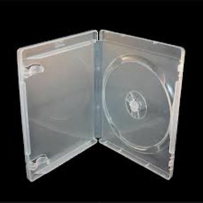 10 Single Clear Blu ray Case 14 mm Spine New Empty Replacement Disk Amaray Cover