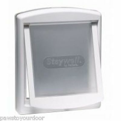 Staywell Petsafe 760 large dog door 2 way white pet cat flap 760EF see thru flap