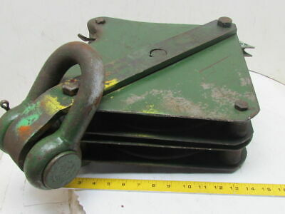 "UW-12 Wire Rope Cable Block W/Dual 12"" Pulley Sheaves For 5/8 or 3/4"" Wire Rope"