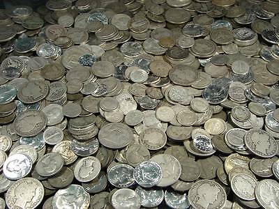 1 Pound LB 1964 or Before US Silver Coin Lot No Culls All Readable Dates