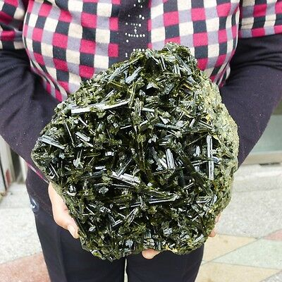 16.75LB Natural Rare green tourmaline specimens quartz crystal