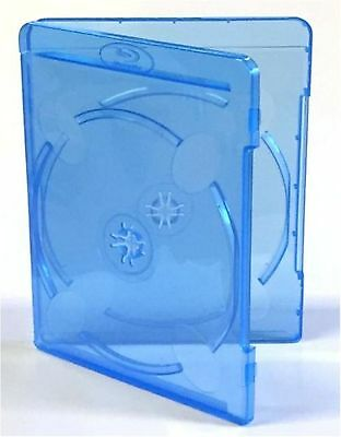 10 Double Slim Blu ray Case 11mm Spine Brand New Empty Cover Face on Face