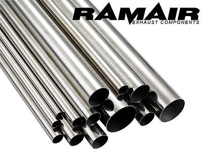 """1m 3"""" Inch 76mm T304 Stainless Steel Exhaust Tube Pipe Exhaust Straight Joiner"""