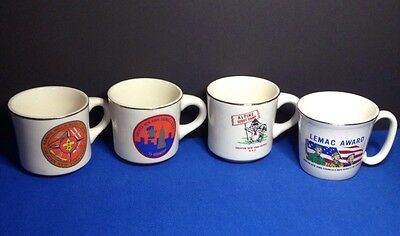 Lot of 4 Vintage New York Boy Scout Coffee Mugs Cups- GNYC, Alpine Camp, Lemac